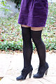 Cat Print Top, Purple Velvet Skirt, Faux Over the Knee Sock Tights, Black Ankle Boots - Close up on tights.jpg