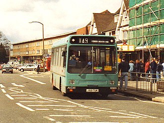 ACE Cougar - The Willowbrook ACE Cougar operating in Solihull with Caves Bus Services in April 1994