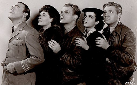 Erwin, far right, with Pat O'Brien, Martha Tibbetts, James Cagney, and June Travis in Ceiling Zero (1936) Ceiling Zero (1936) 1.jpg