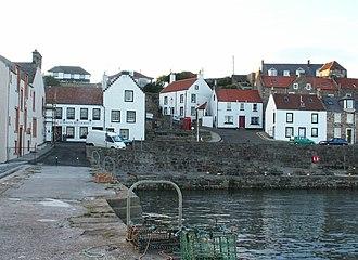 Cellardyke - Traditional white houses around the harbour in Cellardyke