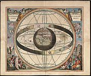 The Ptolemaic system depicted by Andreas Cellarius, 1660/61