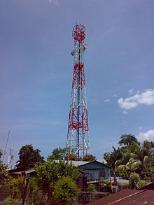A Cellular network tower in the Philippines.