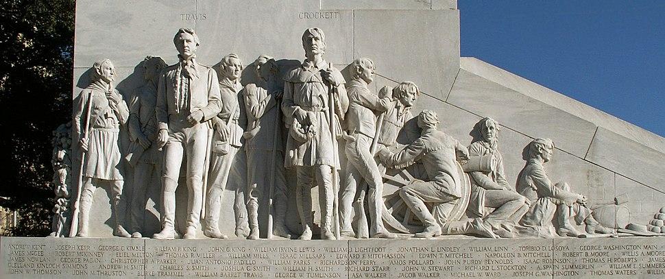 Cenotaph of the Alamo defenders (fragment), San Antonio, Texas, USA