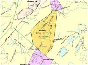 Franklin, New Jersey - Image: Census Bureau map of Franklin, New Jersey