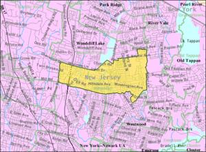 Hillsdale, New Jersey - Image: Census Bureau map of Hillsdale, New Jersey