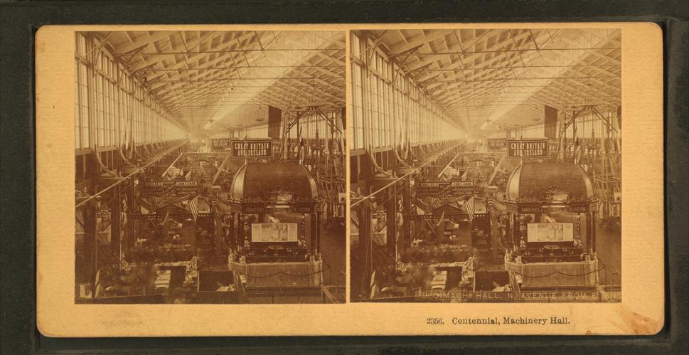 Centennial, Machinery Hall, by Kilburn Brothers