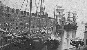 Central Wharf (Boston) - Image: Central Wharf Boston by John D Heywood 2350759207 detail 2
