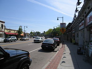 Die Centre Street in West Roxbury