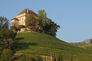 Clarens, Switzerland - Image: Châtelard Château 2011 01