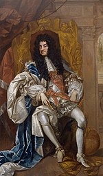 Charles II en 1680, peint par Thomas Hawker.