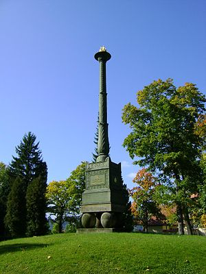 Duchess Charlotte Georgine of Mecklenburg-Strelitz - Charlotte candelabra in the cemetery of Hildburghausen