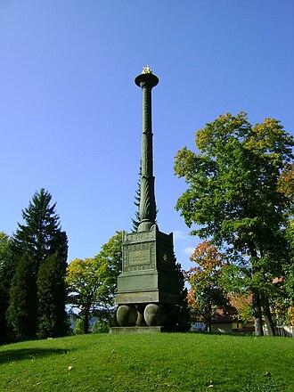 Duchess Charlotte Georgine of Mecklenburg-Strelitz - Charlotte candelabra in the cemetery of Hildburghausen