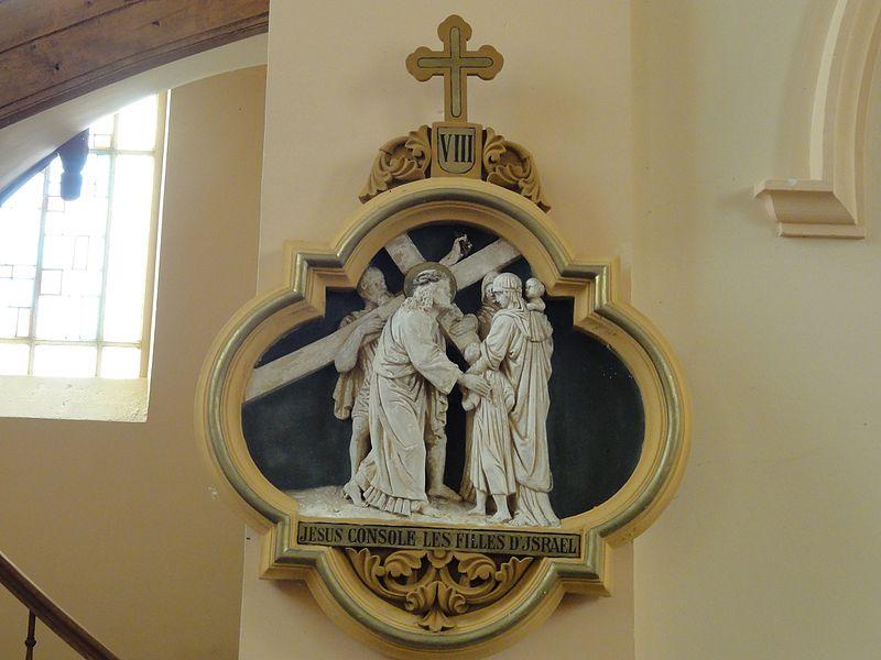 Chazelles-sur-Albe (M-et-M) église, chemin de croix, station 8