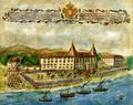 Chegada da Suprema Junta da Inconfidência a Belém para arrasar e salgar o chão do Palácio dos Duques de Aveiro (1759) - Bartolomeu da Costa (Museu de Lisboa).png