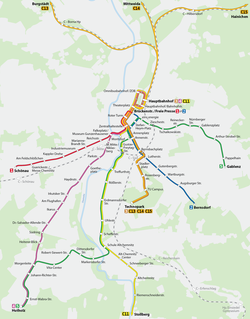 Map of the network, 2008.