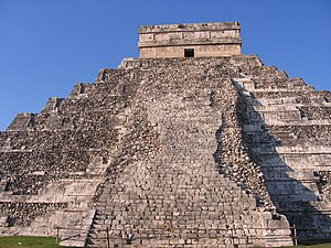 East side of El Castillo at Chichen Itza