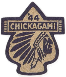 Photograph of a 1944 Camp Chickagami patch.