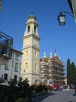 Church of Castelrotto during restorations.