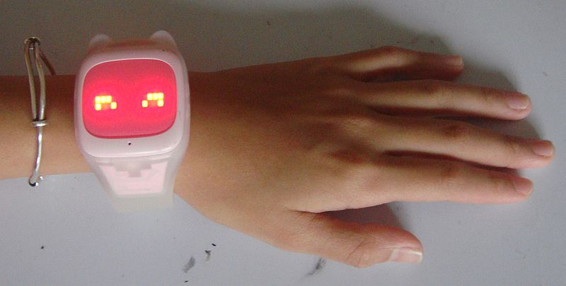 File:Child's phone watch (smartwatch) in China (girl).jpg