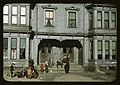 Children with adult in the tenement district, Brockton, Massachusetts LCCN2017877362.jpg
