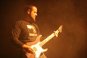 Rob Arnold - Rob Arnold performing live in Chimaira at the Nokia Theatre Times Square, on June 25, 2008