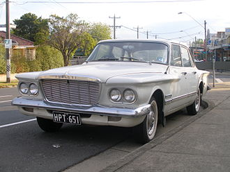Chrysler Australia - The Chrysler S Series Valiant. The Valiant was produced by Chrysler Australia from 1962 to 1980