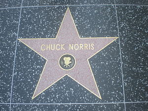 Chuck Norris' star on the Hollywood Walk of Fame