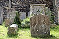 Church of St Nicholas, Ash-with-Westmarsh, Kent - churchyard headstones and tomb chest 02.jpg