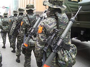 T65 assault rifle - T65K2 with Republic of China Marine Corps infantry.