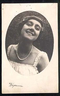 Circa 1910-1915 publicity photograph of Russian expatriate ballet dancer and actress Vera Karalli.jpg