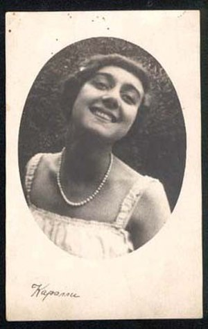 Vera Karalli - Image: Circa 1910 1915 publicity photograph of Russian expatriate ballet dancer and actress Vera Karalli