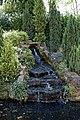 City of London Cemetery Modern Crematorium pond waterfall 1.jpg