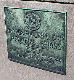 Clark memorial bridge marker 2.jpg