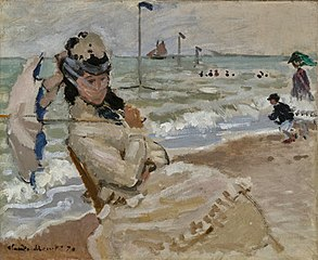 Camille on the Beach inTrouville