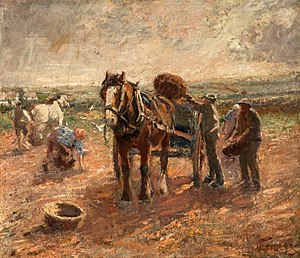 "Harry Fidler - ""Clearing the Potato Field"" at the Potteries Museum & Art Gallery"