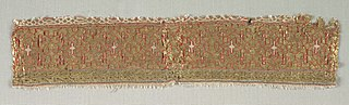 Guilloche band, from a dalmatic of San Valero