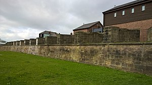 Clifford's Fort - Gun embrasures on the east wall of the fort