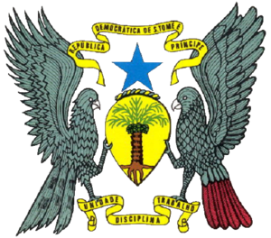 English: Coat of arms of São Tomé & Príncipe, ...