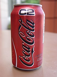 12 ounce (355 ml) can of Coca Cola C2.