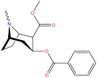 Cocaine's chemical structure