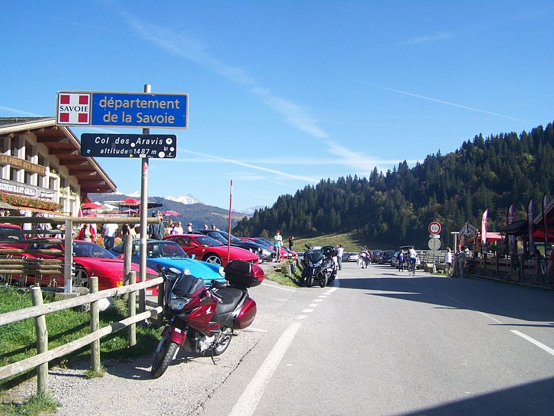 Col des Aravis pass, separating departments of Savoie and Haute-Savoie, in France (alt. 1487 metres).