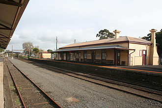 Colac, Victoria - Colac railway station is served by V/Line on the Warrnambool railway line