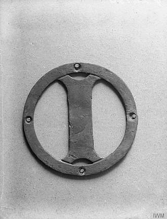HMS Iphigenia (1891) - Ship's badge of HMS Iphigenia (IWM Q20184)