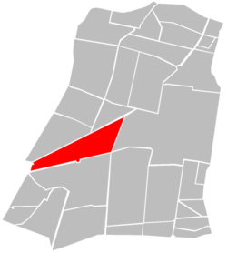 Location of Colonia Juárez (in red) within Cuauhtémoc borough