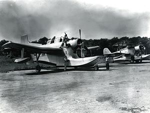 Columbia XJL - An XJL-1 and an example of the type it should have replaced: the Grumman J2F Duck