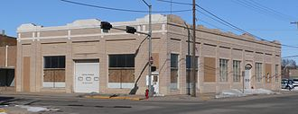 Columbus, Nebraska - Lincoln Highway Garage, built in downtown Columbus in 1915