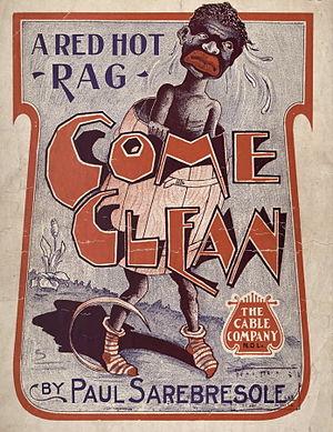 Come Clean (rag) - 1905 sheet music cover
