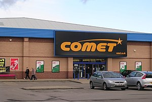 Comet Group - A typical Comet outlet, in Pontefract, West Yorkshire.