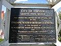 Commemorative Plaque on Queen's Park Suspension Bridge - geograph.org.uk - 496981.jpg