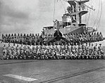 Composite Squadron 85 crewmembers aboard USS Lunga Point (CVE-94), in May 1945.jpg